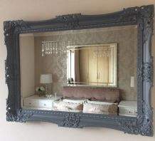 NEXT Charlotte Decorative Grey Mirror Stunning - Choice of size & Colour